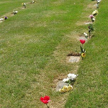 Grave Markers at Ground Level - San Diego Burial Pricing