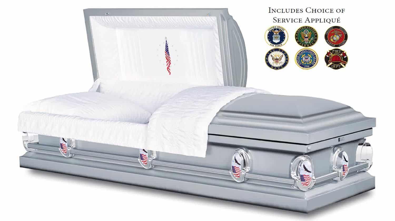 Honor Casket for Veteran Burial