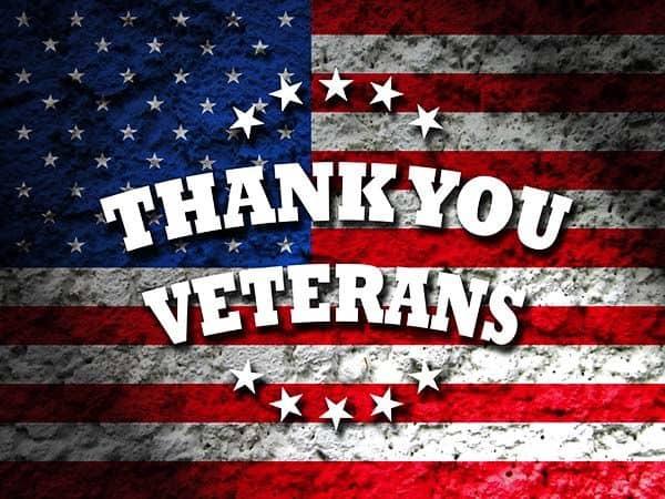 Thank You Veterans Flag - Veteran Funerals - Military Funerals