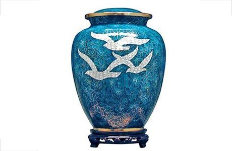 Cloisonne Urn - Going Home. for keeping cremains at home