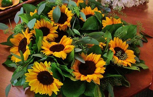 Yellow Flower Wreath for Burial at Sea